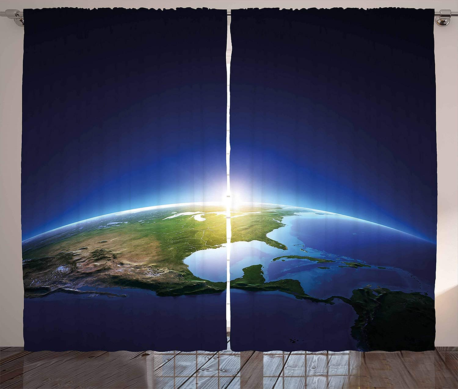 Max 58% OFF Earth Curtains Sunrise Over America North Atmosp Excellence Cloudless