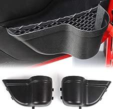 CheroCar JK Front Door Pockets Storage Inserts Side Organizer Box for Jeep Wrangler 2011-2018 JK JKU Interior Accessories, Black