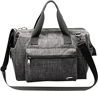 Mummy Bag Diaper Bag Large Capacity Diaper Handbag Fashion mom and dad Convertible Travel Baby Bag boy and Girl with Replacement pad Multi-Function Insulated Pocket(Grey)