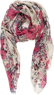 Scarf for Women Lightweight Floral Flower Scarves for Fall Winter Shawl Wrap