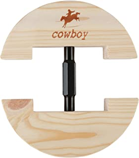 """COWBOY Hat Stretcher,Large Size 7 1/2"""" to 10 5/8""""-Colourful Adjustable Buckle Heavy Duty-Easy To Use(Large, Black)"""