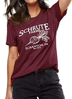 Women Schrute Farms Sweatshirt with Pocket Long Sleeve Comfy Loose Graphic Shirt The Office