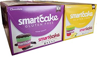 2 SHIPPERS: CHOCOLATE SMARTCAKE AND LEMON SMARTCAKE BUNDLE: GLUTEN FREE, KETO FRIENDLY, SUGAR FREE, LOW CARB SNACK CAKES: 8 TWIN PACKS PER FLAVOR