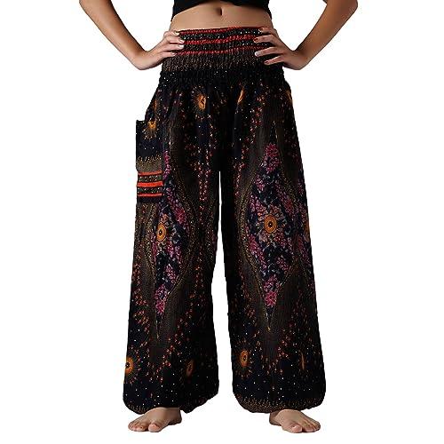 912fe1264a3 Bangkokpants Plus Size Harem Pants Boho Clothing Hippie Peacock Size US  16-22