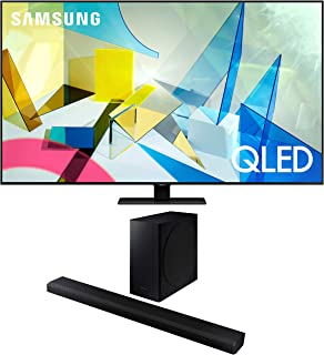 "Samsung QN85Q80TA 85"" QLED Ultra High Definition Smart HDR 4K TV with a Samsung HW-Q800T 3.1.2 Ch Dolby Atmos Soundbar and Wireless Subwoofer (2020)"