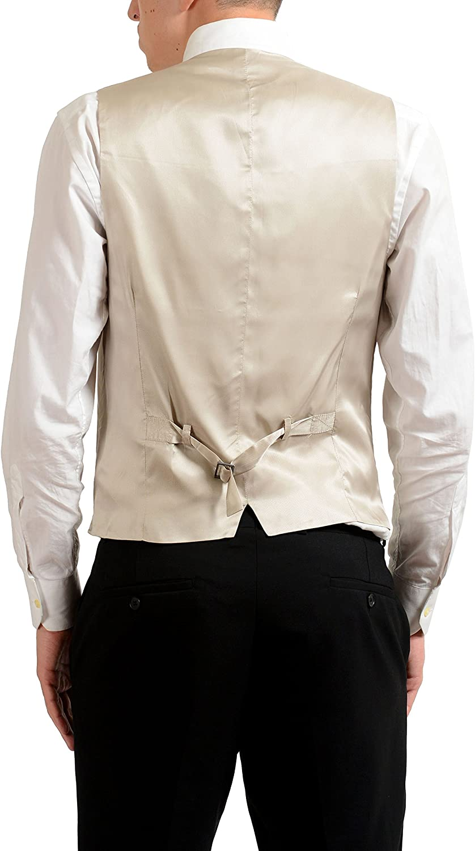 Dolce & Gabbana Men's Button Up Ivory Dress Vest US S IT 48