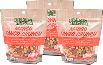 Snack Bags, Mixed Nut and Trail Mix, Dried Fruit, Peanuts, Cashews, Corn Nuts, Sweet Chili,Great Unique Flavors for a Healthy Treat - Mango Tango Crunch - 3 Pack