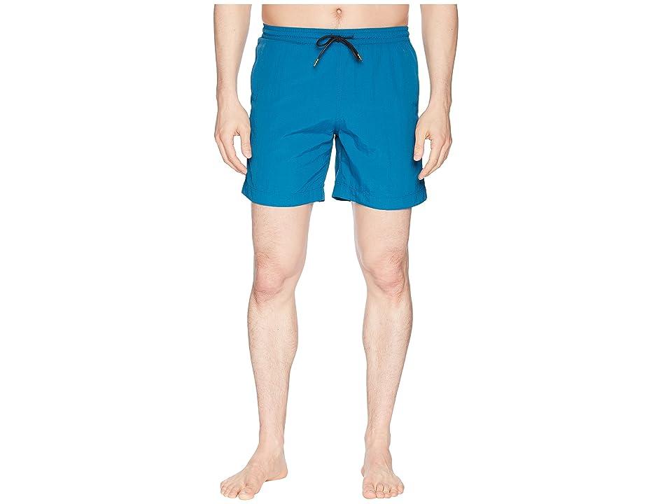 Image of Billy Reid Ocean Swim Shorts (Ocean) Men's Swimwear