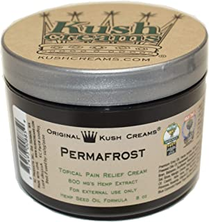 Kush Creams - Permafrost - Emu Oil & Hemp Oil Infused with 30+ Herbal Ingredients - Topical Pain Relief Cream with Aromatherapy - Award Winning - Doctor Recommended - Lab Tested - 8 oz Jar
