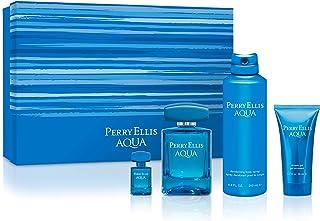 Perry Ellis Fragrances Aqua 4 Piece Gift Set