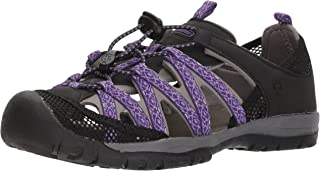 Women's Santa ROSA Sport Sandal, Black/Violet, Size 10 M US