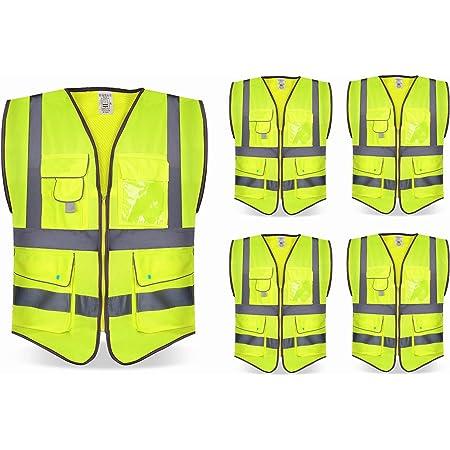 Corte Entallado Chaqueta de Trabajo Multiusos para Hombre Stenso Prisma/® con Bandas Reflectantes