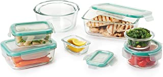 OXO Good Grips 16 Piece Smart Seal Leakproof Glass Food Storage Container Set