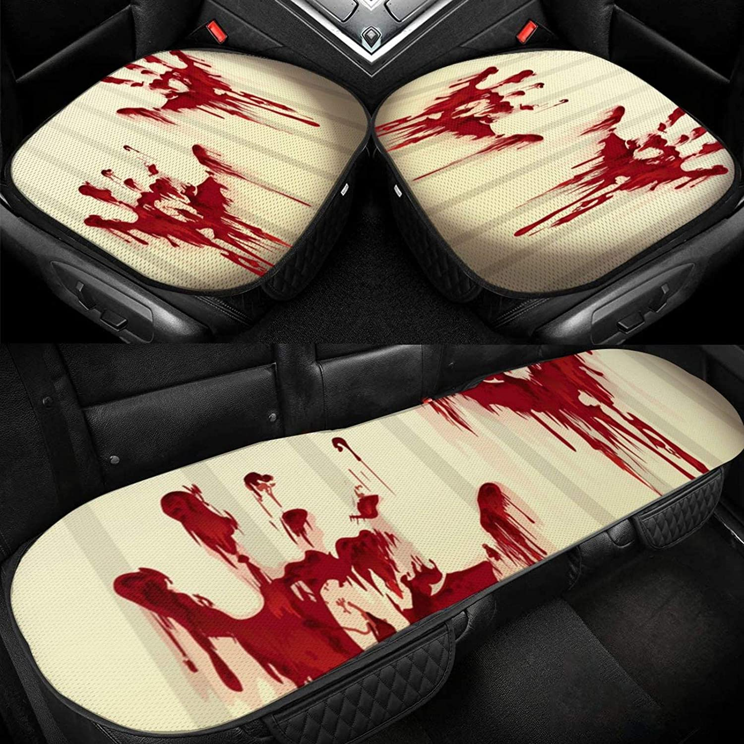 Car Seat Animer and price revision Cushion Covers for Bottom Cover Horror-Hands-Print Super sale period limited