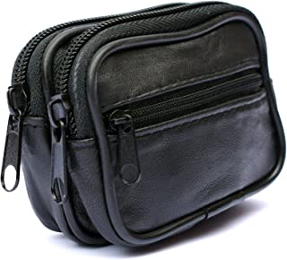 Real Soft Leather Bum Belt Pouch 3 Zips Small Travel Bag Money Pouch Organiser