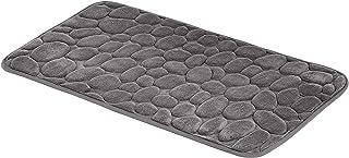 Amazon Basics-Tapis de bain en mousse à mémoire de forme Motif pierre - Gris, 50x80cm