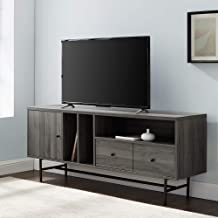 WE Furniture Modern 1-Drawer TV Stand with Record Storage, 60