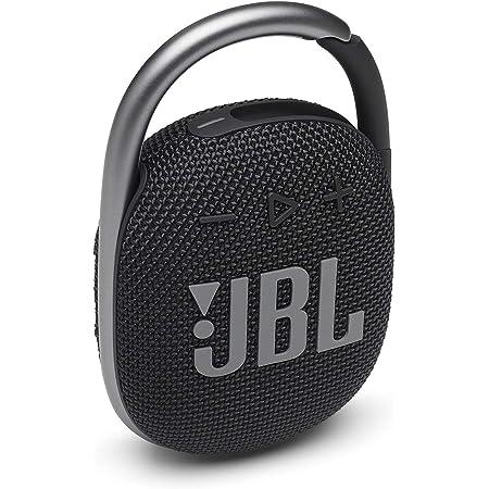 JBL Clip 4: Portable Speaker with Bluetooth, Built-in Battery, Waterproof and Dustproof Feature - Black (JBLCLIP4BLKAM) (Renewed)