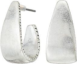 Large Post Hoop Earrings