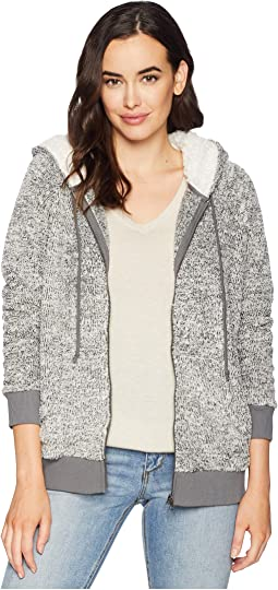 Ultra Soft and Cozy Sweater Fleece Zip Jacket with Hood