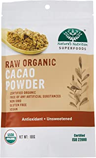 Nature's Nutrition Raw Organic Cacao Powder 100g