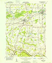 YellowMaps Churchville NY topo map, 1:24000 Scale, 7.5 X 7.5 Minute, Historical, 1950, Updated 1952, 26.9 x 22 in