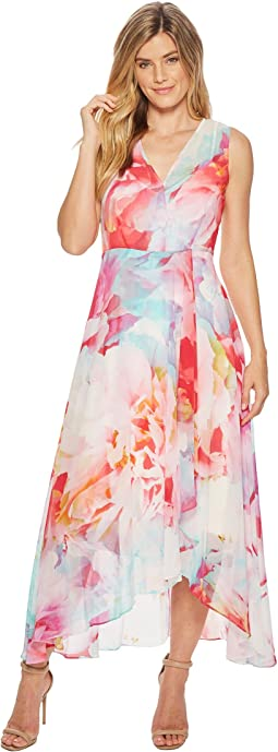 V-Neck Floral High-Low Maxi CD8H635J