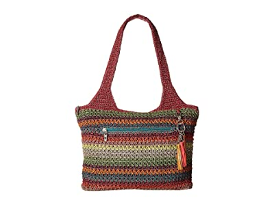 The Sak Casual Classics Large Tote (Gypsy Stripe 1) Tote Handbags
