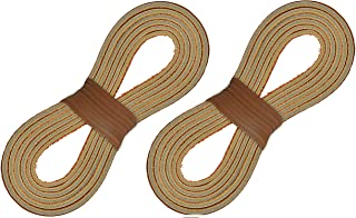 2 Pair of Leather Laces For Boots, Boat Shoes, Arts & Crafts - 72 Inch - Just Cut to Fit …