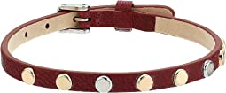 Fossil - Vintage Iconic Leather Bracelet with Polished Studs