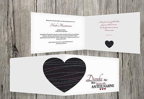 buscando agente de ventas Agradecimiento luto Corazón, borgoña, 100 Karten Karten Karten  de moda