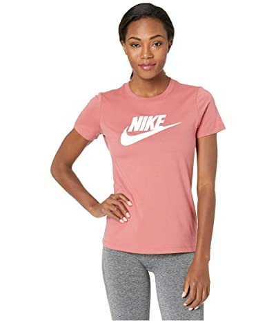 Nike Sportswear Tee Essential Icon Futura (Light Redwood/White) Women