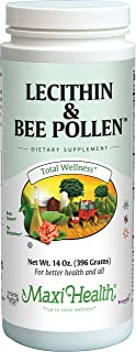 Maxi Health Lecithin & Bee Pollen - Brain, Energy and Digestion Support - 14 Oz Powder - Kosher