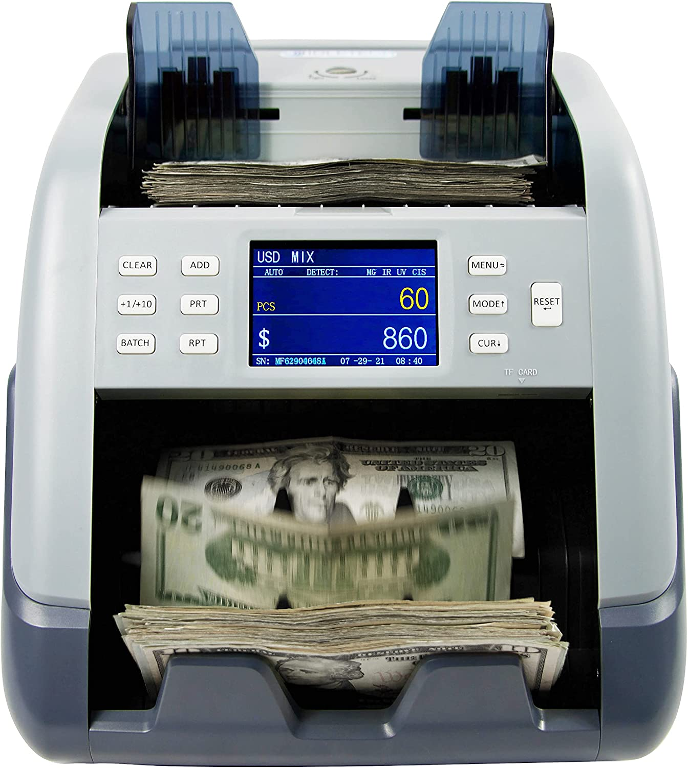 IDLETECH VR-1 Bill Counter Bank specialty shop Counting Value Machi Grade Money Special price