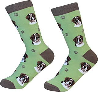 Saint Bernard Dog Breed Socks Unisex Sock Daddy by E&S Pets