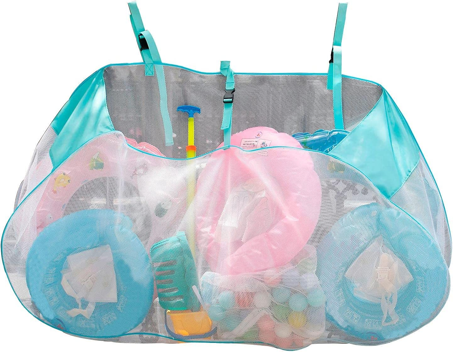 Swimming Pool Max 70% OFF Toy Storage Bag Clear Mesh Capacity Ranking TOP1 Tote Large