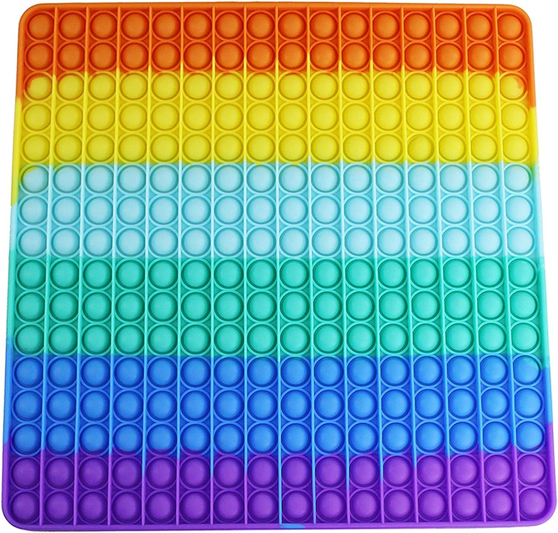 LINXUAN Big Limited time cheap sale Push Pop Bubble Fidget Sensory 25 Rainbow Finally resale start Square Toy