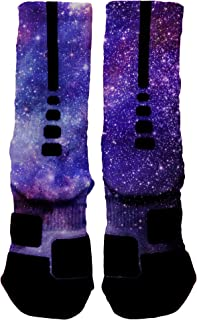 HoopSwagg Deep Space Galaxy Custom Elite Socks