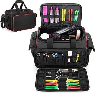 BAFASO Barber Bag with Adjustable Dividers, Travel Barber Case Holds Various Hair Cutting Tools (Bag Only), Black