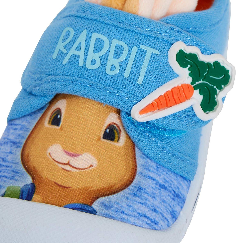 Peter Rabbit Boys 3D Ears Canvas Pumps Kids Easy Fasten Summer Trainers Plimsolls Shoes