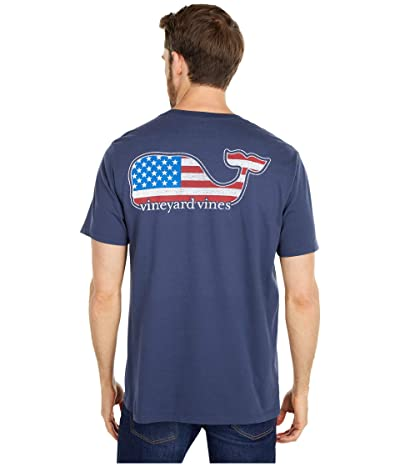 Vineyard Vines Short Sleeve Whale Pocket T-Shirt (Blue Blaze) Men