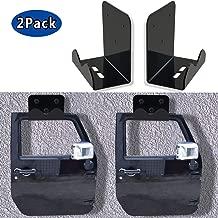 Sporthfish Door Storage Hanger Rack Bracket Wall-Mounted Door Holder Fits for Jeep Wrangler JK JKU TJ YJ LJ and New JL - Set of 2