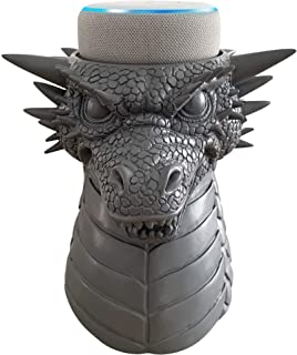 Dekodots Smart Speaker Table Stand (Dragon) - Decorative Holder for Amazon Echo Dot or Google Home Mini - Portable Design, No Sound or Microphone Interference - Durable Poly-Resin