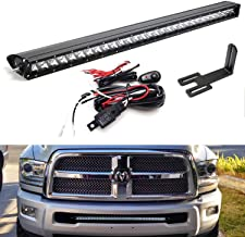 iJDMTOY Lower Grille Mount 30-Inch LED Light Bar Kit For 2003-2018 Dodge RAM 2500 3500, Includes 150W High Power CREE LED Lightbar, Lower Bumper Opening Mounting Brackets & On/Off Switch Wiring Kit