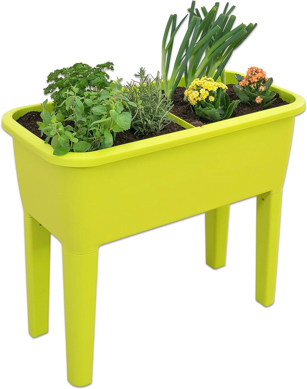 cms Prosperplast Jardinera Alta con Tapa de policarbonato Profundo x 58 96,3 x 77 para Proteger Tus Plantas L Respana Planter Set de pl/ástico en Color Lima Ancho Alto