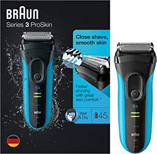 Braun Shaver 3040, Rechargeable, fully washable, with new micro comb technology, 45 min running time