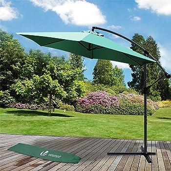 Deuba Parasol Deporte En Alu Vert O 300cm Aluminium Inoxydable Manivelle Integree Tissu Hydrofuge Jardin Terrasse Balcon Amazon Fr Jardin