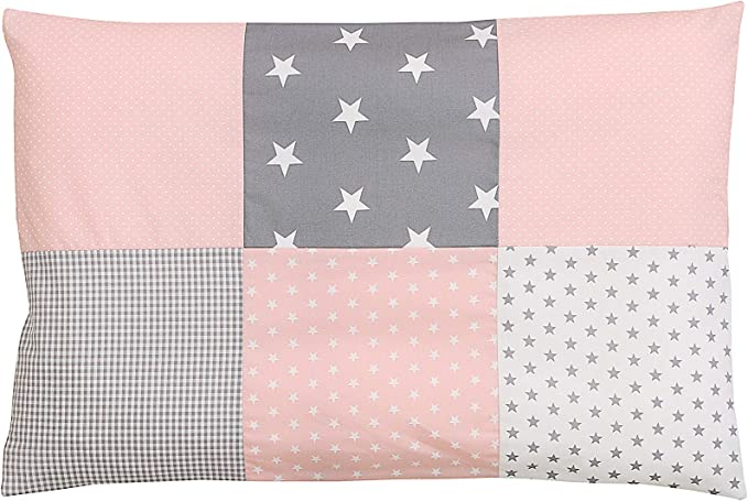 133 opinioni per Federa per guanciale per neonato ULLENBOOM ® 40x60, rosa, grigio (con cerniera,