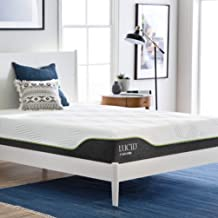 LUCID 10 Inch King Latex Hybrid Mattress - Cooling Gel Memory Foam - Responsive Latex Layer - Adaptable - Premium Support - Durable Steel Coils