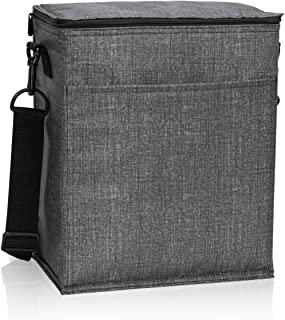 Thirty One Picnic Thermal Tote in Charcoal Crosshatch - 3034 - No Monogram